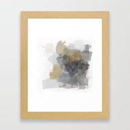 Grey Introspective in a white room Framed Art Print
