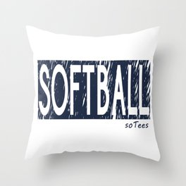 Softball soTees Throw Pillow