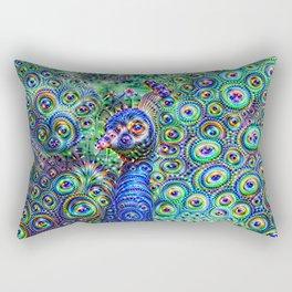 Brilliant Jeweled Peacock Rectangular Pillow