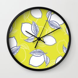 Limes and Lemons Wall Clock