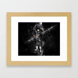 Black Goku Framed Art Print