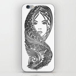 zentangle portrait 2 iPhone Skin