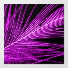 purple feather I Canvas Print