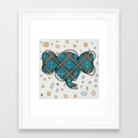 ellie goulding Framed Art Prints featuring Ellie by Bunhugger Design
