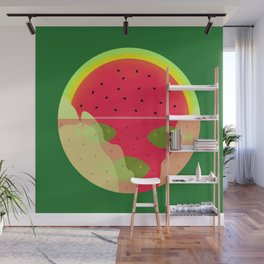 Watermelon Underwater Scene Wall Mural
