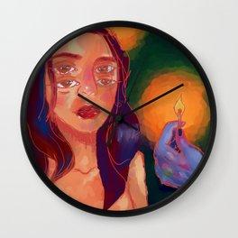 hot skin Wall Clock