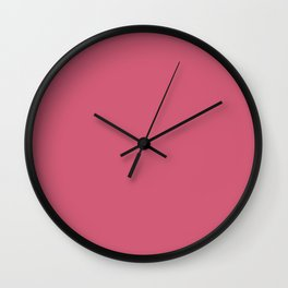 Bright Pink Solid Color Pantone Fruit Dove 17-1926 Accent to Color of the Year 2021 Wall Clock