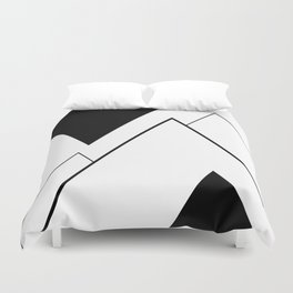 Minimal Mountains Duvet Cover