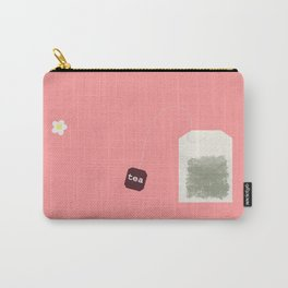 Teatime on Pink Carry-All Pouch