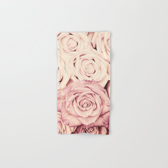 Some people grumble I Floral rose roses flowers pink Hand & Bath Towel