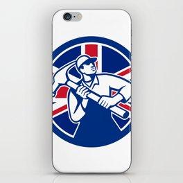 British Joiner Union Jack Flag Icon iPhone Skin