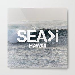 SEA>i  |  The Wave Metal Print
