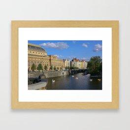 Sunny Day in Prague - View from Legion Bridge Framed Art Print