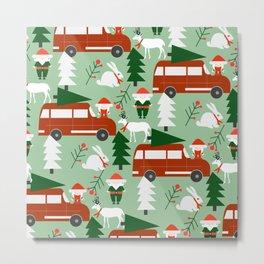 Christmas drive Metal Print