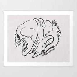 Skullicious( Breaking Out) Art Print