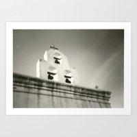 bw mission Art Print