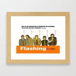 FLASHING Framed Art Print