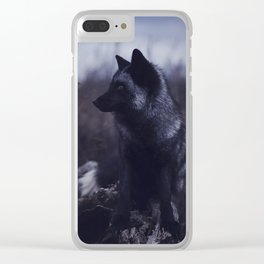 Dark Fox Clear iPhone Case