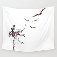 dancer Wall Tapestries featuring Dancer by Megan Daly