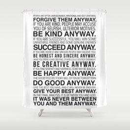 Forgiveness Manifesto Shower Curtain