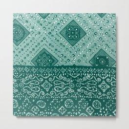 Chamak Green Metal Print