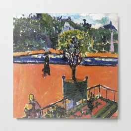 In the Luxembourg Gardens by Henry Lyman Sayen Metal Print
