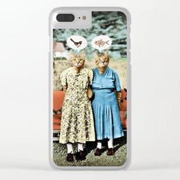 Two Cool Kitties: What's for Lunch? Clear iPhone Case