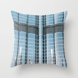 Burj Khalifa reflections | Dubai architecture | Travel photography art print photo Throw Pillow