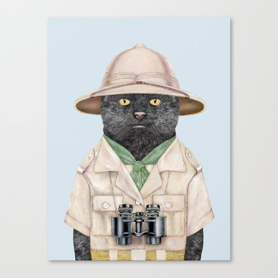Safari Cat Canvas Print