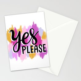 Yes Please Stationery Cards