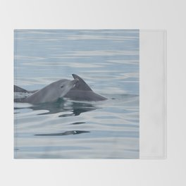 Baby Bottlenose Dolphin Throw Blanket