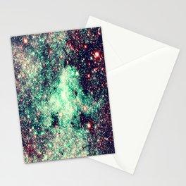 GaLaXy Stars Aqua Teal & Pink Stationery Cards