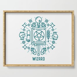 Wizard Emblem Serving Tray