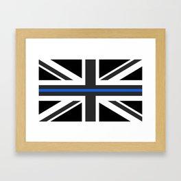 Thin Blue Line UK Flag Framed Art Print