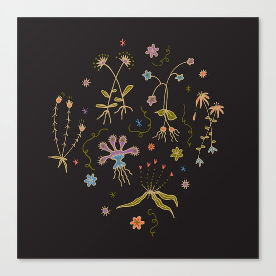 Flora of Planet Hinterland Canvas Print