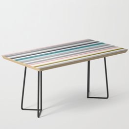 grey and colored stripes Coffee Table