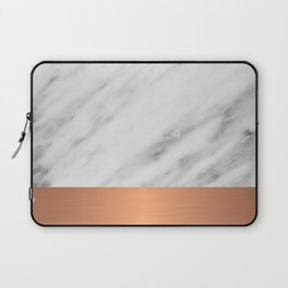 Carrara Italian Marble Holiday Rose Gold Edition Laptop Sleeve
