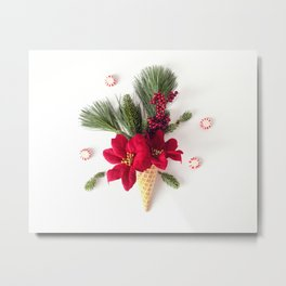 Christmas Cone Metal Print
