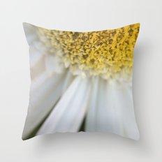 Yellow + White flower  Throw Pillow