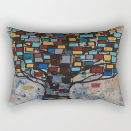 :: Stained Glass Tree :: Rectangular Pillow