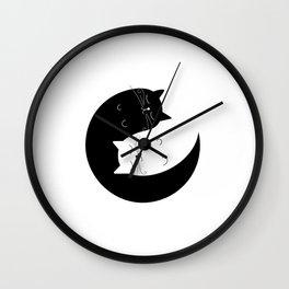 Ying yang cats Wall Clock