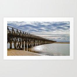 La Gaviota Boardwalk Art Print