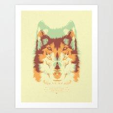 WOLF A. Art Print