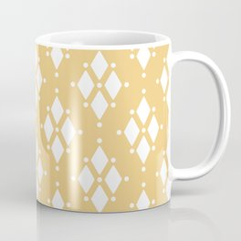 Rhombus diamond shapes boho tribal pattern sand beige Coffee Mug