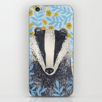 british iPhone & iPod Skins featuring British Badger by stephanie cole DESIGN
