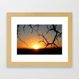 ball of fire Framed Art Print
