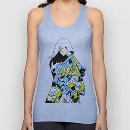 Yellow and White Poppies Unisex Tank Top