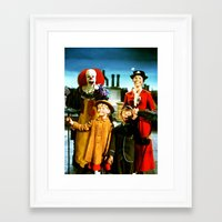 pennywise Framed Art Prints featuring PENNYWISE IN MARY POPPINS by Luigi Tarini