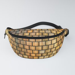 Wooden Distressed Block Tile Pattern Fanny Pack