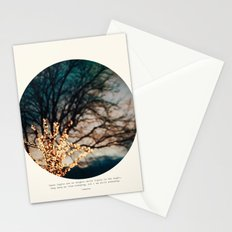 White Lights Stationery Cards